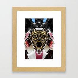 Robot Geisha V2 Framed Art Print