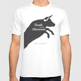 Ernest Hemingway book cover & Poster, Death in the Afternoon, bullfighting stories T-shirt
