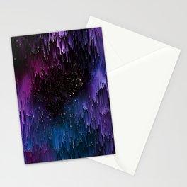 Ultra Violet Glitch Galaxy Stationery Cards