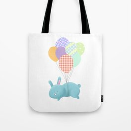 Floating Rabbit Tote Bag