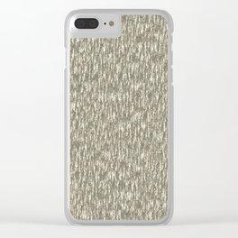 Bark - Gray Clear iPhone Case