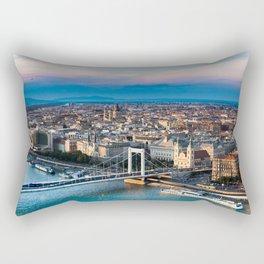 The glowing warmth Rectangular Pillow