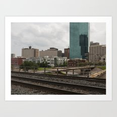 Which Side of The Tracks Art Print