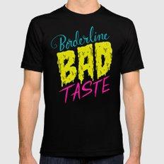 Borderline Bad Taste MEDIUM Mens Fitted Tee Black