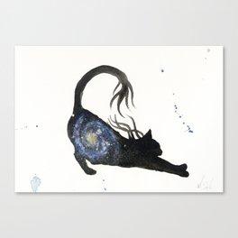 Spiral Galaxy Cat Canvas Print