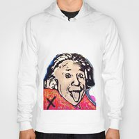 einstein Hoodies featuring Einstein by Paola Gonzalez