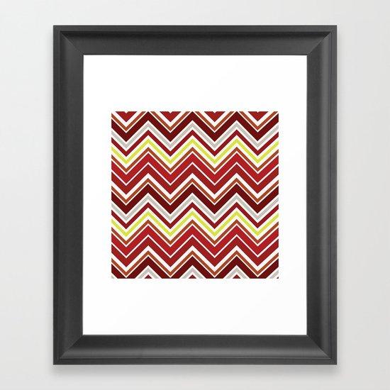 Red Chevron Framed Art Print