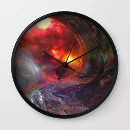 Flaming Seashell 5 Wall Clock