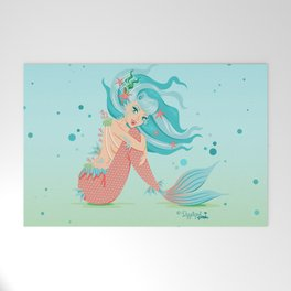 Monster Mermaid Pin-Up Welcome Mat