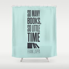 Lab No. 4 - Frank Zappa Quote Typography Print Poster Shower Curtain
