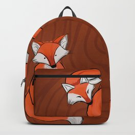 three Foxes in the Wood Backpack