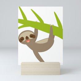 funny sloth Mini Art Print