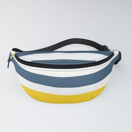 Navy and yellow stripes Fanny Pack