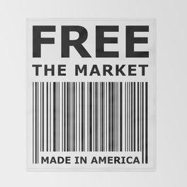 Free The Market Throw Blanket