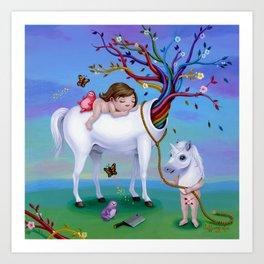 The Unicorn's New Horn Art Print