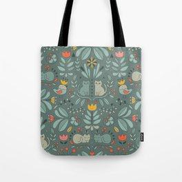 Swedish Folk Cats Tote Bag