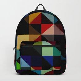Ovinnik - Abstract Coloful Dark Diamond Shape Art Backpack
