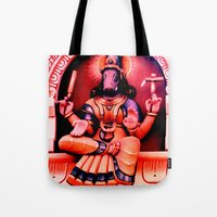hindu Tote Bags featuring Hindu 2 by very giorgious