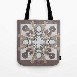 Home Sweet Home Mandala - Brown Tan Tote Bag