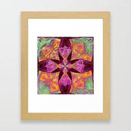 Oil Floral Bliss Framed Art Print