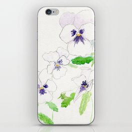 Snow Pansies iPhone Skin