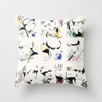 exo Throw Pillows featuring Love Me Right - EXO by emametlo