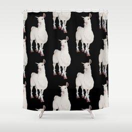 LLAMA IN L.A. Shower Curtain