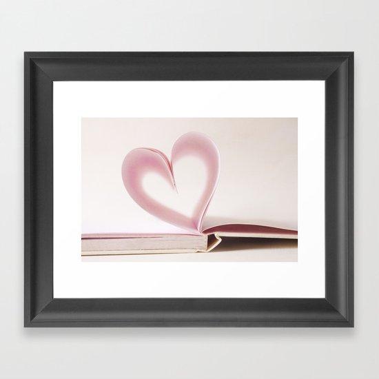 Valentine Pastel Heart  Framed Art Print