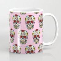 sugar skull Mugs featuring Sugar Skull by Jade Boylan