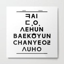 "EXO K- Hangeul: ""Love City"" Inspired Metal Print"