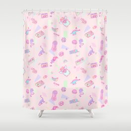 Retro Girl (Pink) Shower Curtain