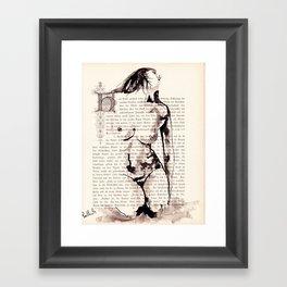akt drawing 912 Framed Art Print