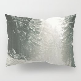 Forest Road In Winter Pillow Sham