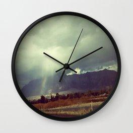 February rain Wall Clock