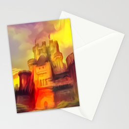 Red and Green Butrón Castle Stationery Cards