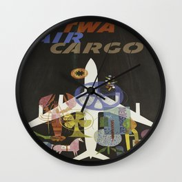 Vintage poster - Air Cargo Wall Clock
