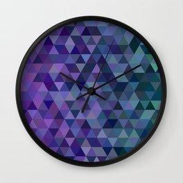 Triangle tiles Wall Clock