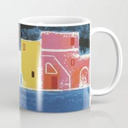 Procida Napels Italy retro vintage travel ad Coffee Mug
