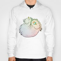 my mad fat diary Hoodies featuring Fat Unicorn by exeivier