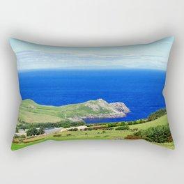 Landscape of Antrim coast. Northern Ireland Rectangular Pillow