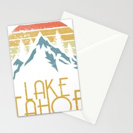 Vintage Lake Tahoe California Nevada Retro Hoodie Stationery Cards
