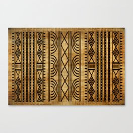 African Weave Canvas Print
