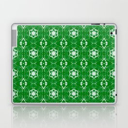 Green Floral Geometric Pattern Laptop & iPad Skin