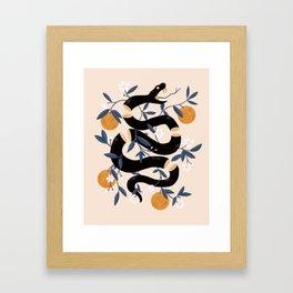Zesty Snake Framed Art Print