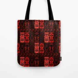 Lava Red Tikis! Tote Bag
