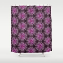 Glowy Butterflies–Pink & Magenta Palette Shower Curtain