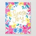 Choose Joy Floral by jwillustrations