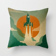 The Voyage (Green) Throw Pillow