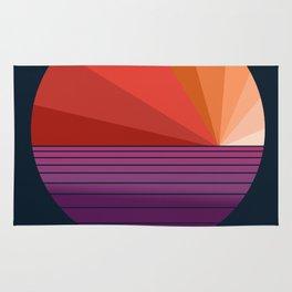 Yeah, Baby - abstract retro 70s minimal sunset sunrise socal cali beach life 1970's Rug