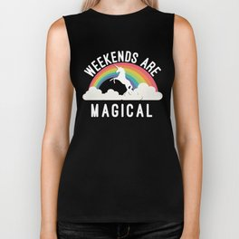 Weekends Are Magical Biker Tank
